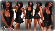 @ ! Bliss Designs ~ Women's Clothing ~ Special ~ Women's Sexy Black Short Skirt Dress