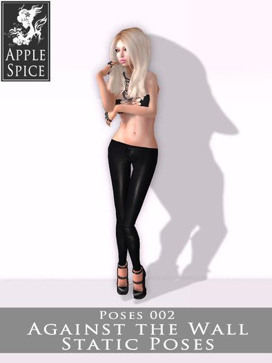 Apple Spice - Against the Wall Pose 002