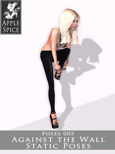 Apple Spice - Against the Wall Pose 005