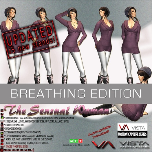 VISTA ANIMATIONS -THE SENSUAL WOMAN BREATHING