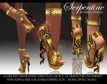 ::FIERCE DESIGNS SERPENTINE STILETTO'S (gold)::