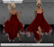 *Soldé/Sale* Ecarlate - Cocktail Dress Red formal / Robe de soirée formelle Rouge - Flamy