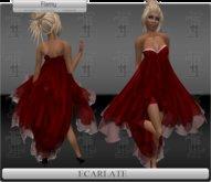 *Soldé/Sale* Ecarlate - Cocktail Dress Red formal / Robe de soirée formelle Rouge - Flamy