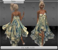 *Soldé/Sale* Ecarlate -  Gown Dress Yellow flowers / Robe formelle Jaune Fleurie - Flamy