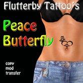 Peace Butterfly (belly)