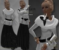 Ecarlate - Cobie - *L* - Dress Gown Formal - White / Robe