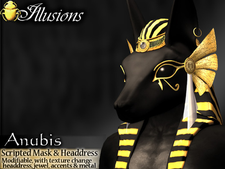 *~*Illusions*~* Anubis Mask