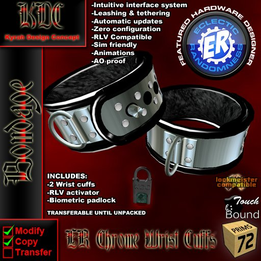 KDC/ER Chrome Wrist Cuffs