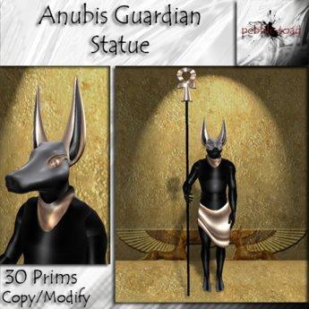 [Pebble Toad] - Anubis Guardian Statue