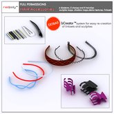 FULL PERMISSIONS Sculpted Hair Accessories ( clip / diadem ) made by  RedPoly