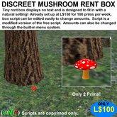 Discreet Mushroom Rent Box (Boxed)