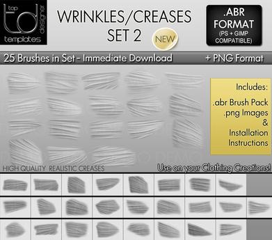 * TD TEMPLATES * Wrinkles / Creases Brushes Set 2