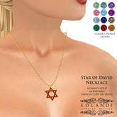 Eolande's Star of David Necklace - women's gold (boxed)