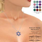 Eolande's Star of David Necklace - women's silver (boxed)