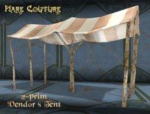 ~ Hare Couture ~ 2-prim Vendor's Tent in 9 colours!