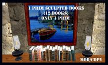 1 prim sculpted books