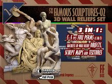 [FFBox] Backless 5x Famous Sculptures-02 3D Wall Reliefs Set {Full Perm}