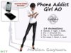 Gaeline Animations - Phone Addict Girl AO : just for sexy and phone addict women !