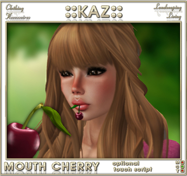 ::KAZ:: Cherry  mouth accesoiries with  or without click message