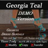 Georgia Sandals - Teal DEMO