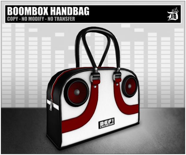 DEF! Handbag / Boombox / Black White & Red