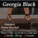 Georgia Sandals - Black