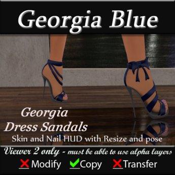 Georgia Sandals - Blue
