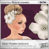 [ glow ] studio - Sepia Flowers Hairband