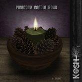 KOSH- PINECONE CANDLE BOWL
