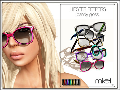 MIEL HIPSTER PEEPERS - candy gloss