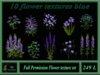 10 flower textures blue