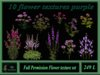 10 flower textures purple