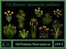 10 flower textures yellow