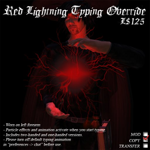 Red Lightning Typing Override