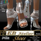 EB Atelier Shoes *MIA* White lace -Wear it quickly-  italian designer