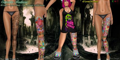 ::Para Designs:: Cupcake Madness Tattoo