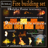 Fire building set- textures:animated fire textures,fire and flame textures-scripts,sculpted map,soun