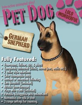 The German Shepherd - An Interactive Animated Pet