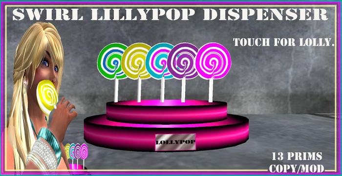 swirl lollypop dispenser