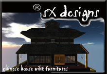Chinese-style house with furniture/Casa estilo chino con muebles