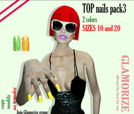 Top NAILS - BOX pack3 - 2 colors   2 sizes