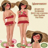 *Baby Pie* Watermelon Bikini / Childrens Swimsuit/ 50L Complete Outfit!