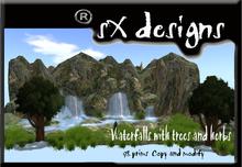 cascade lake bottom and trees/fondo cascada con lago y arboles