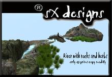 bridge river with rocks and grass/rio con puente rocas y hierba