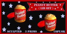 open lid peanut butter