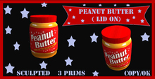 sculpted peanut buter lid on