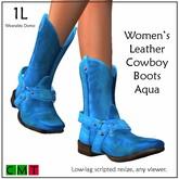 ::Duh!::  Women's Aqua Cowboy Boots