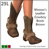 ::Duh!::  Women's Brown Cowboy Boots