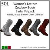 ::Duh!::  Women's Fatpack Cowboy Boots - Basics