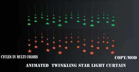 animated curtain of stars light